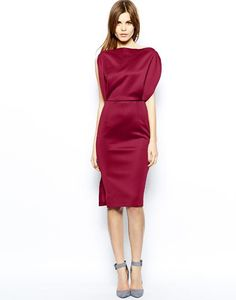 Look for Less: Red Dresses | ASOS Premium Open Top Midi Dress