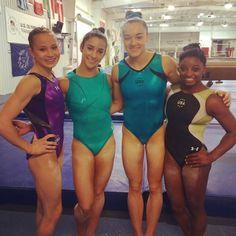 Us Gymnastics Team, Tumbling Gymnastics, Gymnastics World, Gymnastics Pictures, Artistic Gymnastics, Olympic Gymnastics, Olympic Games, Madison Kocian, Gymnastics Championships