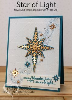 Star of Light easy Christmas Card by PattyBennett - Cards and Paper Crafts at Splitcoaststampers