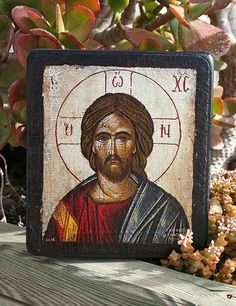 Handmade Byzantine icon Jesus Christ silver by Sebamadeit on Etsy