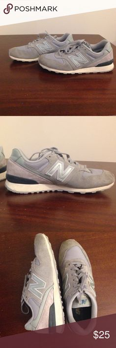 New Balance 696 Gray/Silver New Balance 696 Women's shoes. Size 7 These are gray with silver shimmer on back heel. Great condition. Worn maybe 10 times. More of a fashion sneaker or for lightweight workouts. New Balance Shoes Athletic Shoes