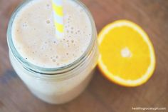 Creamy Almond Orange Smoothie // Vegan // http://healthygrocerygirl.com/creamy-almond-orange-smoothie/