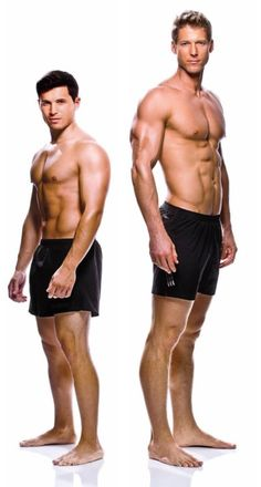 Ectomorph compared to mesomorph.