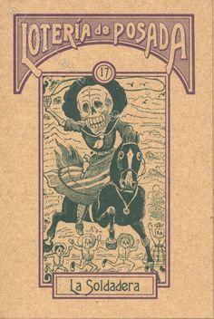 17 - La Soldadera from the Loteria Posada, based on the images of Jose Guadalupe Posada (Mexico, 1852-1913)