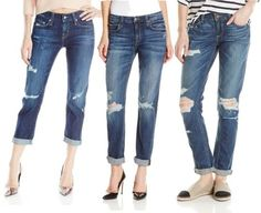 12 Ways to Wear the Distressed Denim Trend for Fall Tattered Jeans, Fall Jeans, Denim Trends, Fall Trends, Distressed Denim, Your Style, Boyfriend, Pants, How To Wear