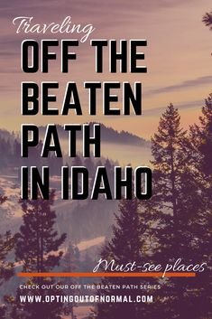 Everyone knows about the big, touristy things to see in Idaho. But we are going to take you on a weekly journey into all the states, and all the small, unique, interesting and fun places to see that are more off the beaten path. Come join us on our weekly series into the unique and interesting place to see in each state. Every week will also feature a new boondocking place with epic views. #boondocking #rvlife #offthebeatenpath #idaho #hotsprings #travel #fulltimervliving