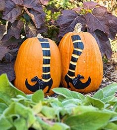 Painted pumpkins...cute!