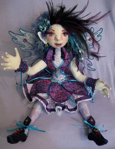 Fairy Angel cloth art doll soft sculpture OOAK by FaeryAngelic, $525.00
