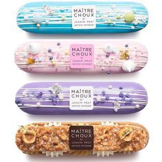 A choux-in for best pastry shop in town, Maitre Choux brings French flair - and delicious eclairs - to Soho and South Kensington. Desserts To Make, Mini Desserts, Plated Desserts, Delicious Desserts, Dessert Recipes, Eclairs, Profiteroles, Pan Relleno, Do It Yourself Food