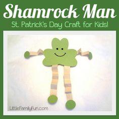 Cute St. Patrick's Day craft for kids! #stpatricksday