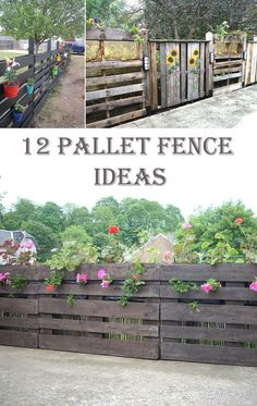 12 Ingenious Pallet Fence Ideas - Cool DIYs