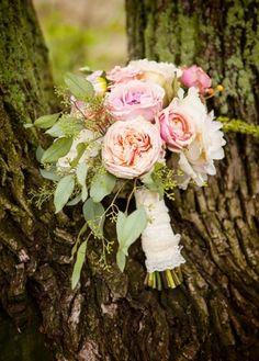 beautiful soft pink wedding bouquet // photo by BringToLightPhotography.com