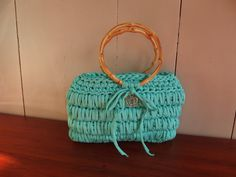 Bolso de ganchillo en el color verde mar por PatriceCrochetDesign