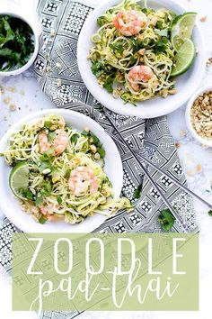 Zoodles pad Thai is the perfect low carb meal. Zucchini noodles, that I like to call zoodles are the perfect alternative to pasta. You get your noodle fix with non of the carbs! Add a delicious sauce, shrimp, and peanuts for a Thai inspired dish with zero guilt. || Oh So Delicioso Healthy Dinner Recipes, Breakfast Recipes, Vegan Recipes, Easy Recipes, Savoury Recipes, Whole30 Recipes, Zoodle Recipes, Pinterest Recipes, Kitchen Recipes