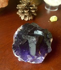 Sun Moon and Earth ~ Products ~ Beautiful Purple Cubic Fluorite Specimen geode druze ~ Shopify