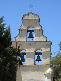 The famous bell tower at Mission San Juan Bautista... My Beauty Shop sat just in front of it and across the street.
