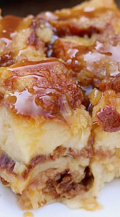Recipe; Salted Caramel Pina Colada Bread Pudding