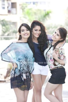 GR8! TV Magazine - GR8 Photoshoot - Surbhi Jyoti, Sana Khan & Hunar Hali