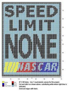 Nascar speed limit sign