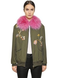 Mr. & Mrs. Italy EMBROIDERED BOMBER JACKET W/ MURMANSKY