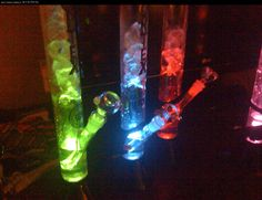 Vortex Glow Bong LED Colors
