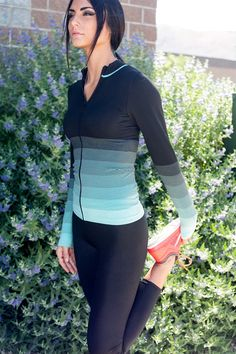 ombre workout jacket  5 colors in 2019  ombre