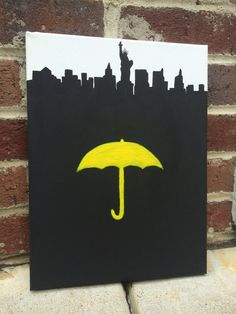 "Yellow Umbrella and NYC Canvas Art | Community Post: 20 ""How I Met Your Mother"" Etsy Finds That Are Legendary"