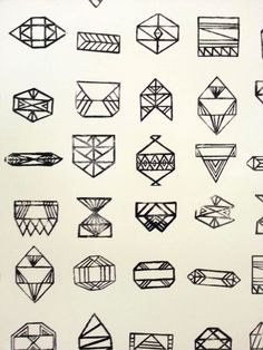 A SWEET SPIRIT geometric shapes --- geometric tattoo