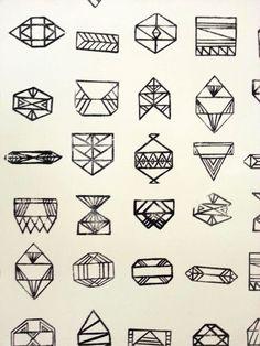 A SWEET SPIRIT geometric shapes --- geometric tattoo