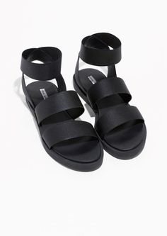& Other Stories image 2 of Elastic Strap Sandal in Black