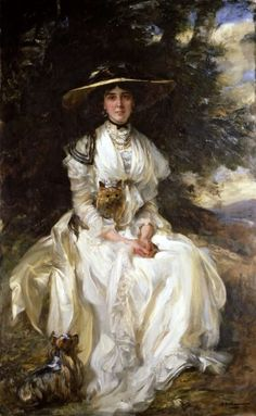 Dame Martha Constance Hattie Barber (1869–1933) — pictured in a portrait by James Jebusa Shannon [1912].