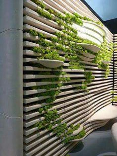 Once you've designed your garden, pick the plants that you want to grow during each season. There's no better solution than to bring a vertical garden. While arranging a vertical garden… Vertical Garden Design, Vertical Gardens, Garden Ideas To Make, Walled Garden, Green Architecture, Architecture Design, Amazing Architecture, Interior Garden, Room Interior