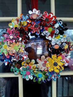 Soda can flower wreath by sjreeke - Cards and Paper Crafts at Splitcoaststampers