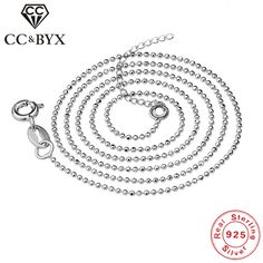 CC Real 925 Sterling Silver Collana Donna Argento Chain Necklace Women Trendy Jewellery Chocker Necklaces Accessory Bijoux L-10 #Affiliate
