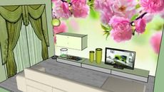 3D Model of tv room