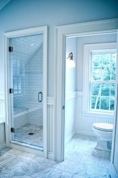 natural lighting is so beautiful and i like this style bathroom.need this window in the toilet room Bathroom Renos, Bathroom Layout, Small Bathroom, Master Bathroom, Design Bathroom, Master Bath Layout, Master Suite, Home Interior, Bathroom Interior