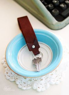 Make a quick and classy leather key chain.