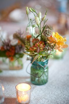 rustic wildflower table decor ideas