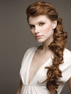 Stylish over the shoulder twisted princess braid