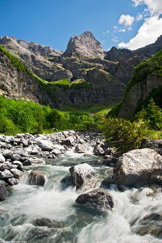 Grand Mont Ruan, Sixt-Fer-A-Cheval, Haute-Savoie.  Le Frenalay, Rhone-Alpes, France.