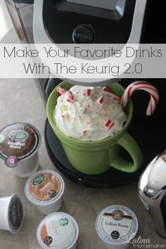 Make Your Favorite Drinks With The Keurig A look at the new Keurig and all the awesome features it offers. Plus an easy Peppermint Mocha recipe! Keurig Recipes, Coffee Recipes, Yummy Drinks, Yummy Food, Tea Drinks, Coffee Drinks, Beverages, Mocha Recipe, Peppermint Mocha