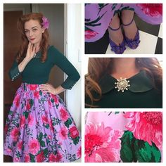 #outfitoftheday  Top (actually a dress) - @alannahhill  Skirt (actually a dress) - @pinupgirlclothing  Brooch- thrifted Shoes-thrifted  Flower-2 dollar shop  #pinup #birdiedress #pinupdoll #pinupdaily #pinupfashion #modernpinup #pinupmodel #pinupstyle #vintagehair #pinupgirlclothing #swingskirt #floral #retro #50sstyle #50s #wiw #whatiwore #outfitoftheday #glamour #vintage #outfitofthedaysocialclub #ootd #whatiworetoday #pinuptricks