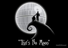 That's No Moon by the50ftsnail | Star Wars v. Nightmare Before Christmas