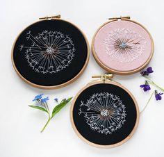 Make a Wish Dandelion Embroidery Hoop Art  Bridesmaid