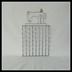 Sewing Machine Spool Holder   Gray Wire 11 x 20 by HTQuiltHangers, $37.95