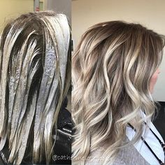 Balayage application and finished I used @oligopro black light clay lightener and a sprinkle of cool tone and 40 vol to paint. I used cool tone and 20 vol for a few Babylights just around her face. @olaplex in all my colors and glazes! @redken5thave shades EQ to root shadow