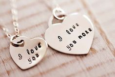 I love you more  Mom&Daughter necklace