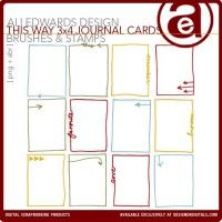This Way 3x4 Journal Card Brushes And Stamps
