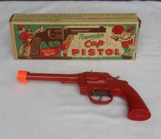 Vintage 1950s Marx Cap Gun In Original Box