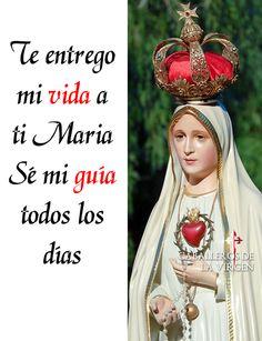 Buenos días Nuestra señora de Fátima ruega por nosotros y venid con nosotros! Caminamos rumbo a los 100 años de las apariciones de nuestra señora de Fátima! Crezca en amor y devoción a ella! One Wish, Mother Mary, Virgin Mary, Religion, Catholic Register, Latina, Faith, Amor, Religious Quotes